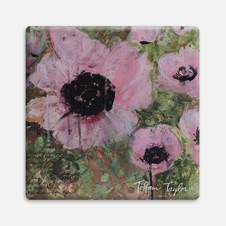 Pink Poppy Patina Coaster