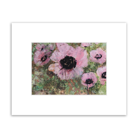 Pink Poppy Patin Matted Print