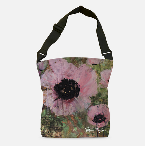 Pink Poppy Patina Tote Bag