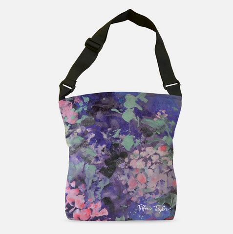 Expressionistic Hydrangeas Tote Bag