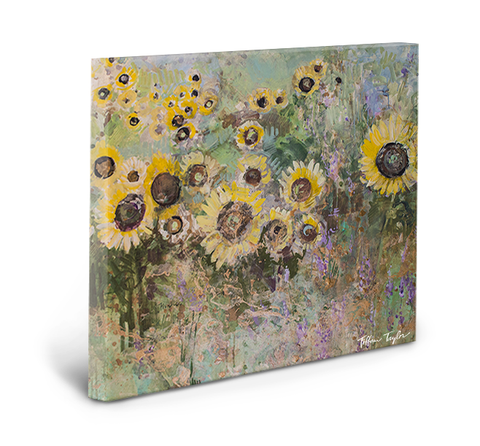 Golden Sunflowers Gallery Wrapped Canvas