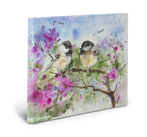 Chickadees Our Love So Sweet Gallery Wrapped Canvas