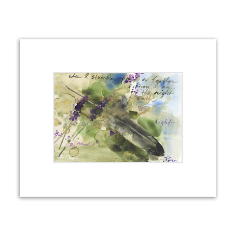 Feather Matted Print