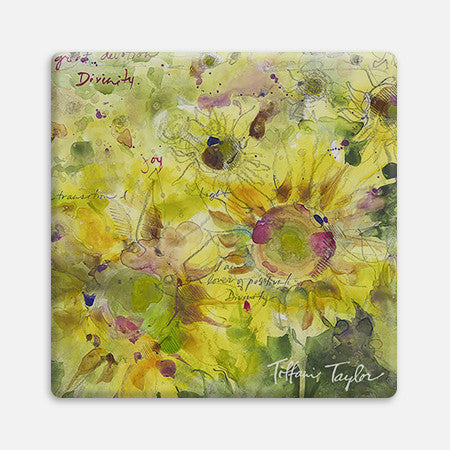 Sunflowers Divinity Love Coaster