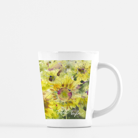 Sunflowers Divinity Love Latte Mug