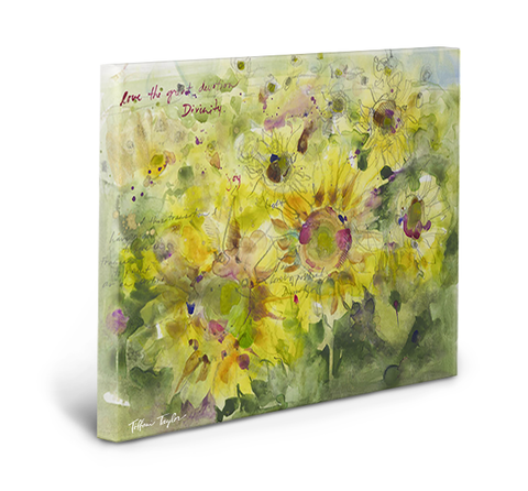 Sunflowers Divinity Love Gallery Wrapped Canvas