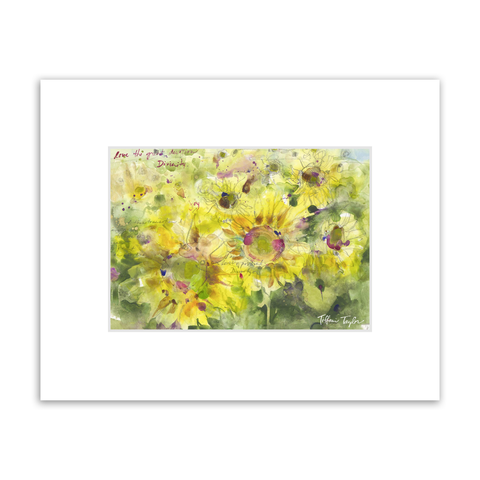 Sunflowers Divinity Love Matted Print