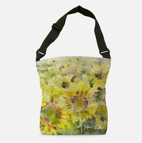 Sunflowers Divinity Love Tote Bag