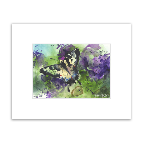 True Freedom and Love Matted Print