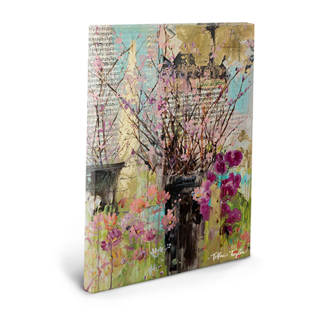 Cherry Blossoms and Orchids Gallery Wrapped Canvas