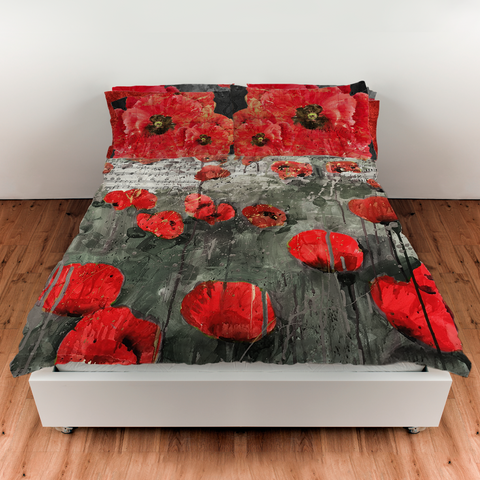 Red Poppies Collection Duvet