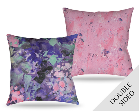 Expressionistic Hydrangeas Pillow