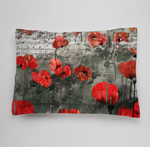 Red Poppies Collection Bedding Sham