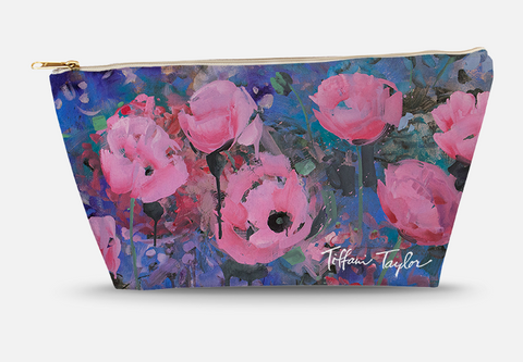 Expressionistic Pink Poppies Accessory Bag