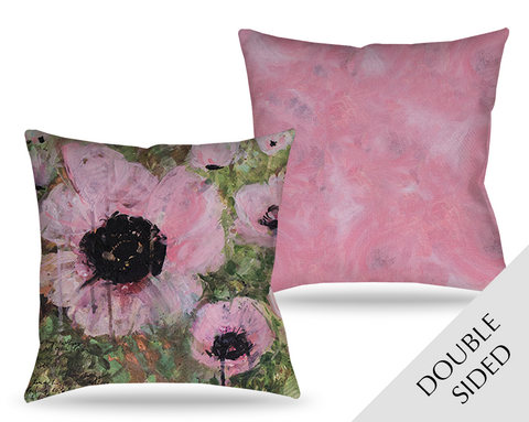 Pink Poppy Patina Pillow