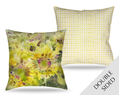 Sunflowers Divinity Love Pillow