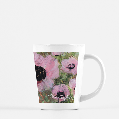 Pink Poppy Patin Latte Mug