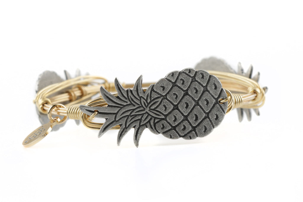 The Pewter Pineapple Bangle Bracelet