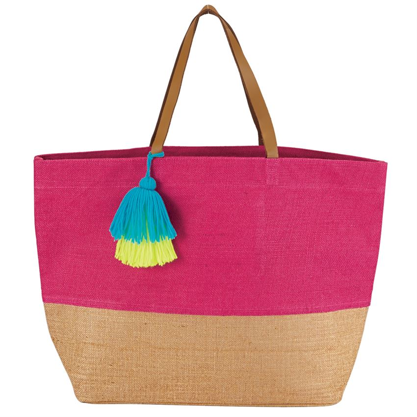 Canvas Tote with pompom