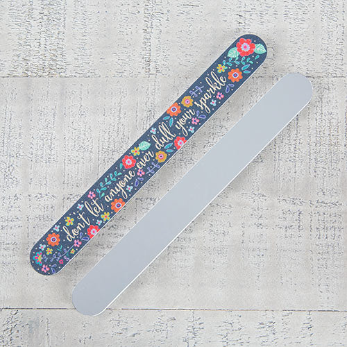 """Don't Dull Sparkle"" Mirror-Backed Emery Board"