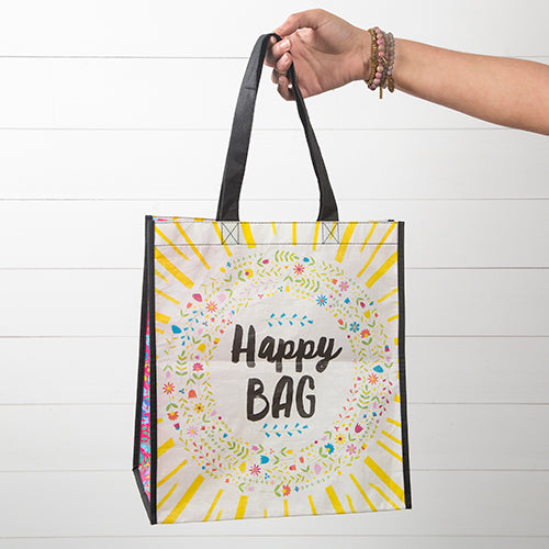 Sunshine Grocery Tote Happy Bag