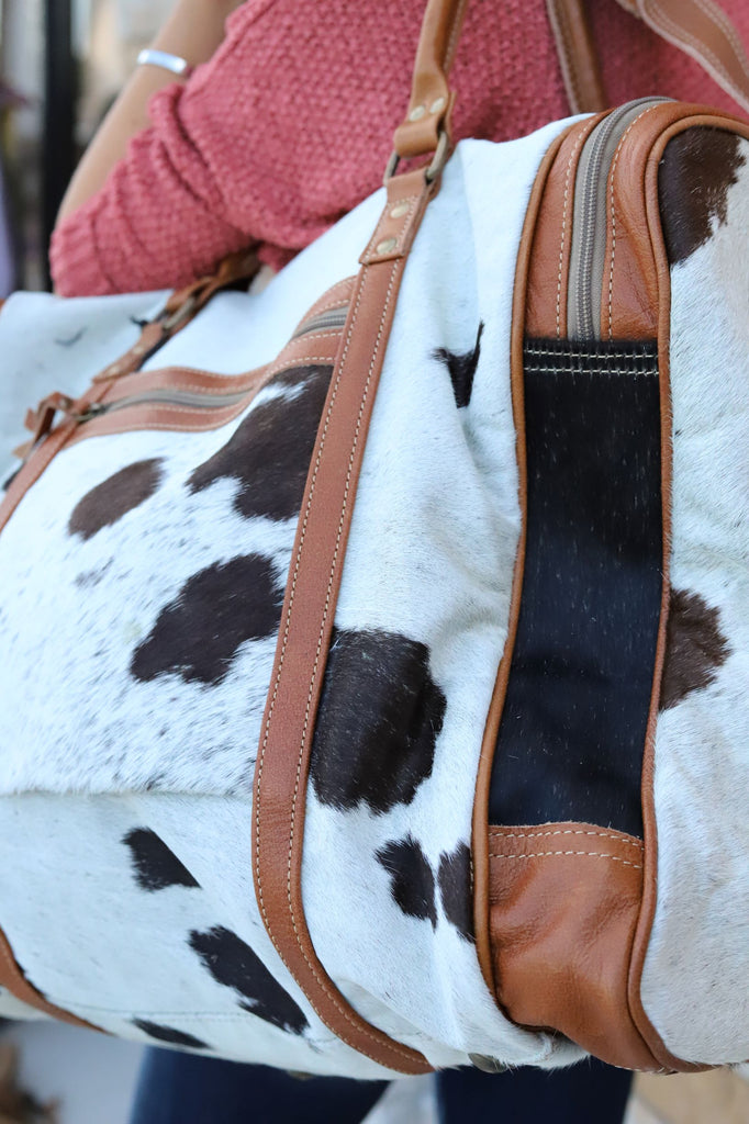 The Big Cowhide Weekend Bag