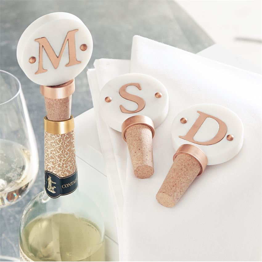 One initial wine cork