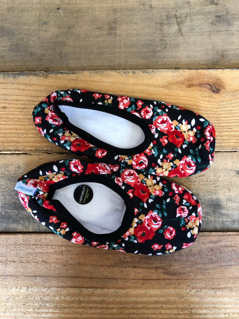 Cherry Rose Floral Slippers
