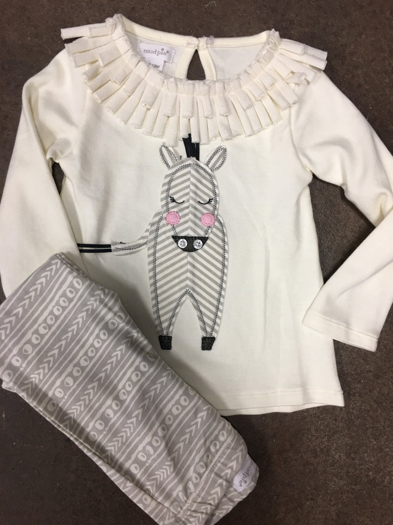 Zebra Tunic and Leggings Set