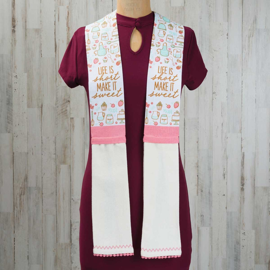 Life Is Short Kitchen Scarf