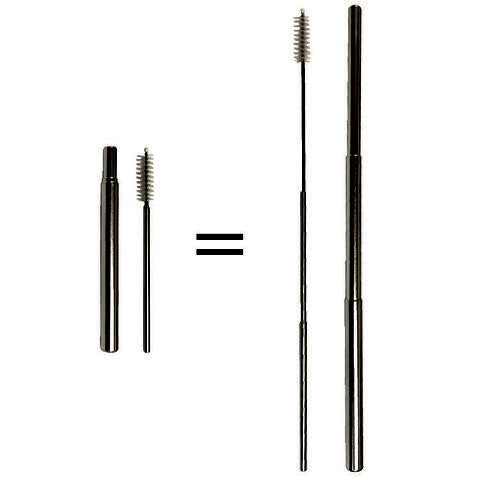 True North - Jewel Charcoal Telescopic Straw and Cleaner