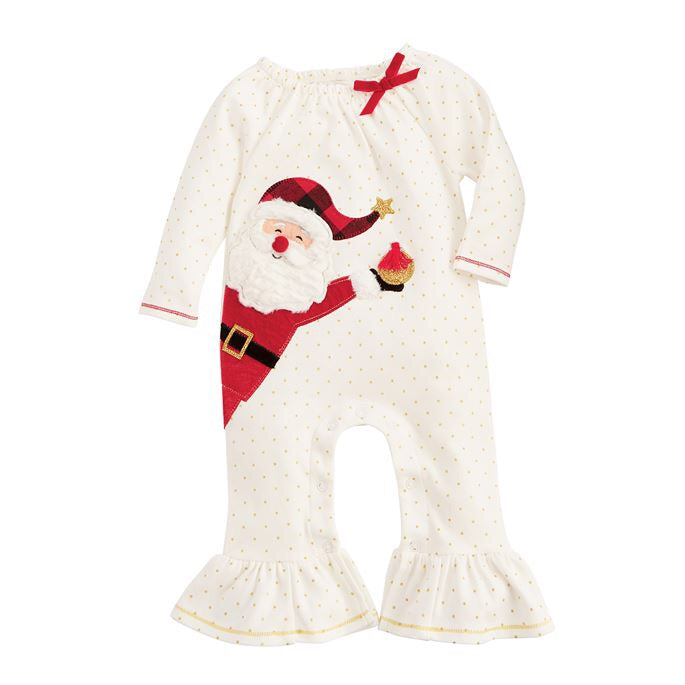 Happy Santa Ruffle One Piece