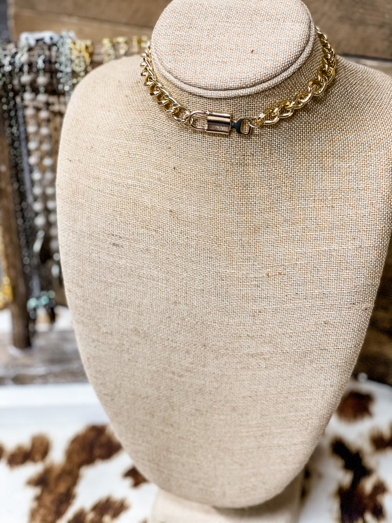 Chunky Chain and Lock necklace