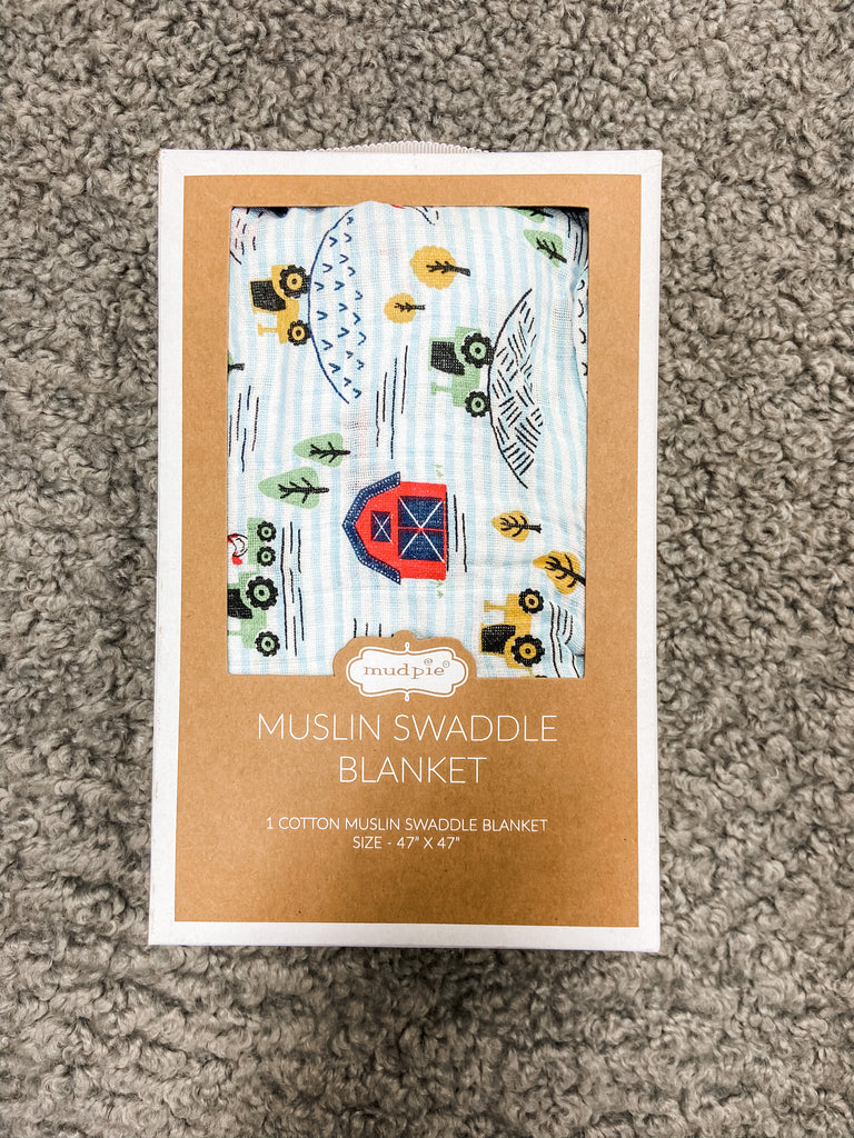 Farmhouse Swaddle Blanket