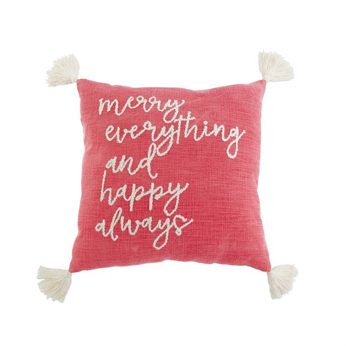 Merry Everything Tassel Pillow