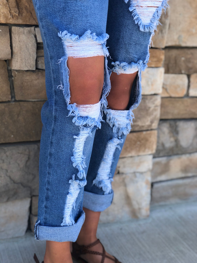 New York Distressed Jeans