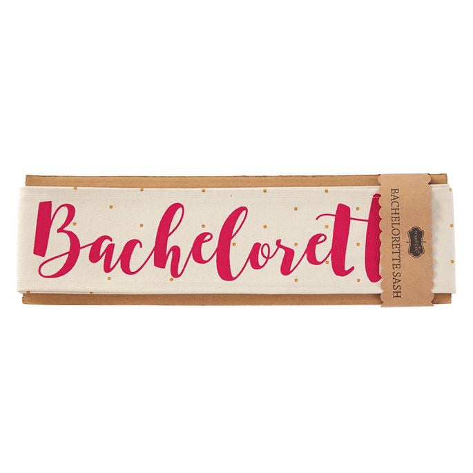 Canvas wedding sashes