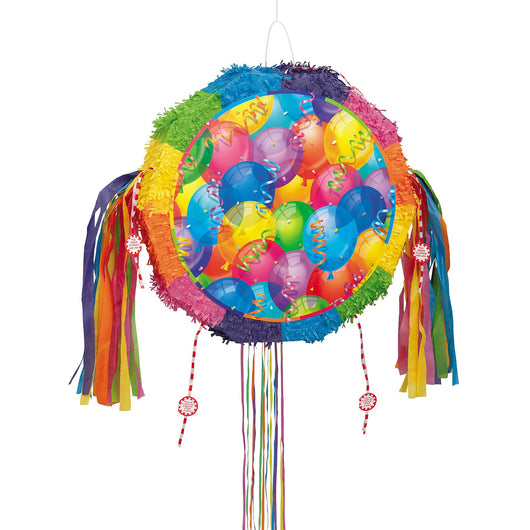 Brilliant Balloons Drum Pull Pop Out Pinata
