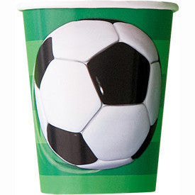 Soccer 3D 9oz Cups, 8ct.