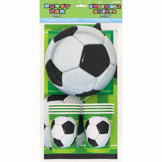 Soccer 3D Ball Party Pack for 8
