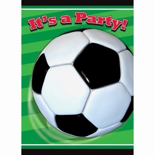 Soccer 3D Party Invitations, 8ct.