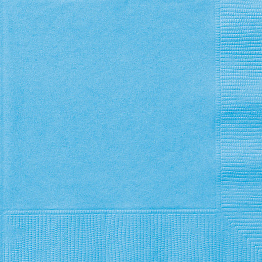 Powder Blue Solid Beverage Napkins, 20ct
