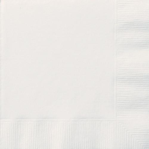White Solid Luncheon Napkins, 20ct