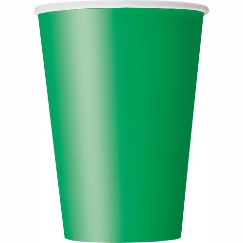 Emerald Green Solid 12oz Paper Cups, 10ct