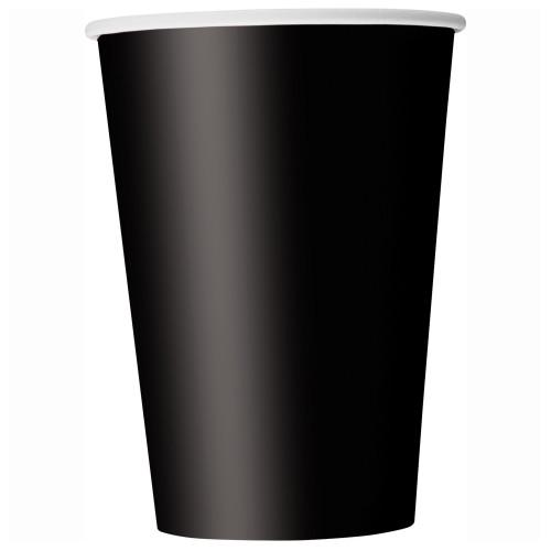 Black Solid 9oz Paper Cups, 14ct