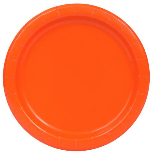 Pumpkin Orange Solid Round 9