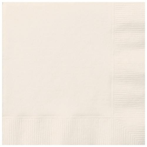 Ivory Solid Luncheon Napkins, 20ct