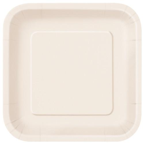 Ivory Solid Square 9