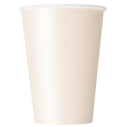 Ivory Solid 12oz Paper Cups, 10ct