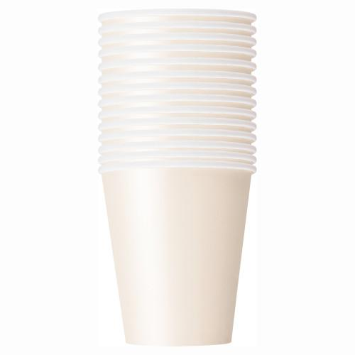 Ivory Solid 9oz Paper Cups, 14ct